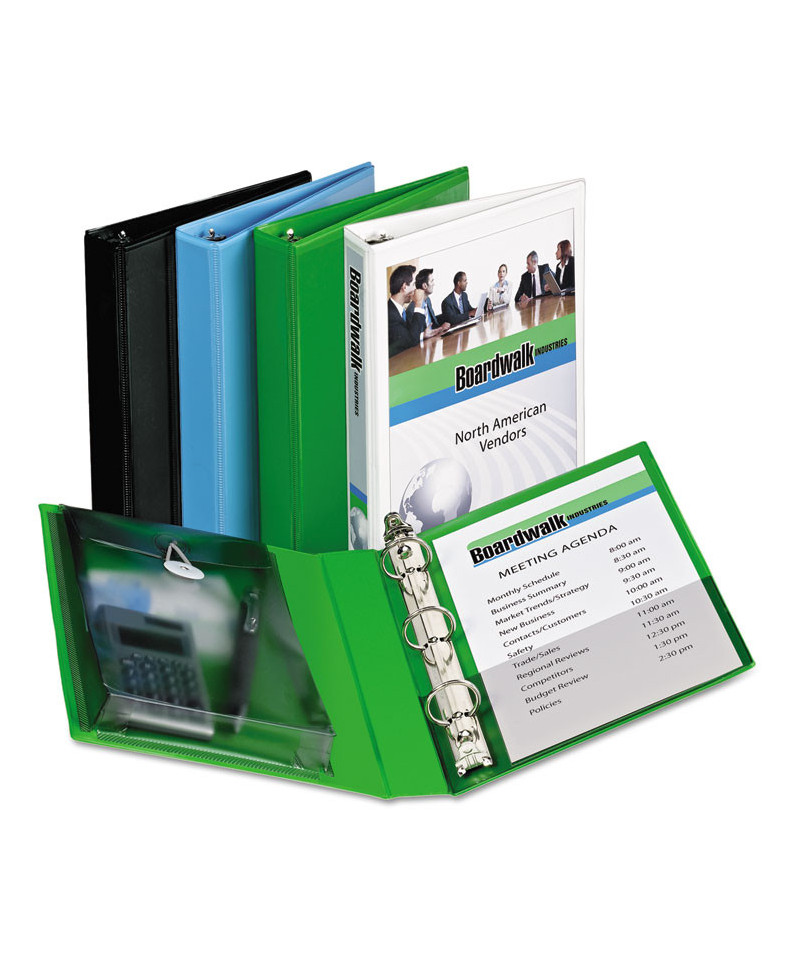Mini Protect & Store View Binder W/Round Rings, 8 1/2 X 5