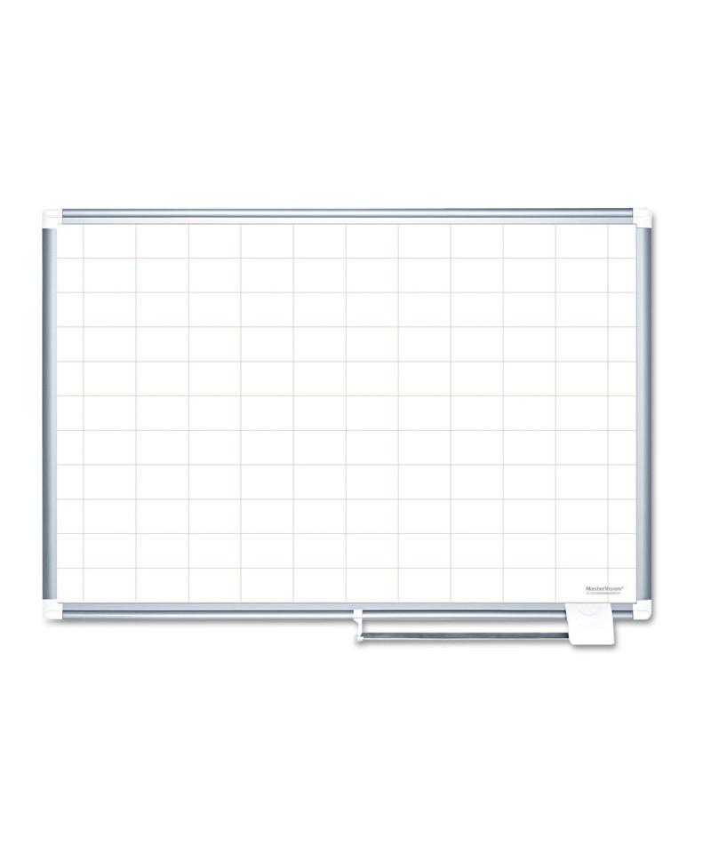 grid planning board  2 x 3 grid  72 x 48  white  silver