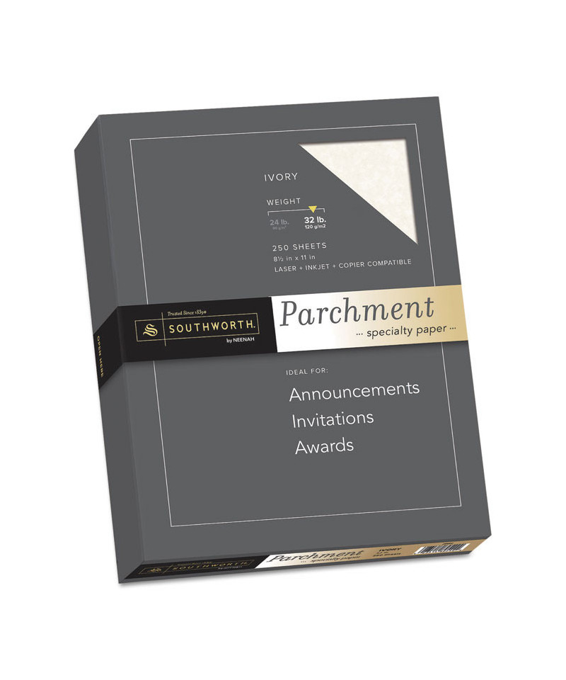 parchment specialty paper  ivory  32lb  8 1  2 x 11  250 sheets
